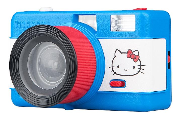 Appareil photo argentique Lomography fisheye Hello Kitty; Pellicule 35 mm à objectif fisheye 170° et flash intégré;