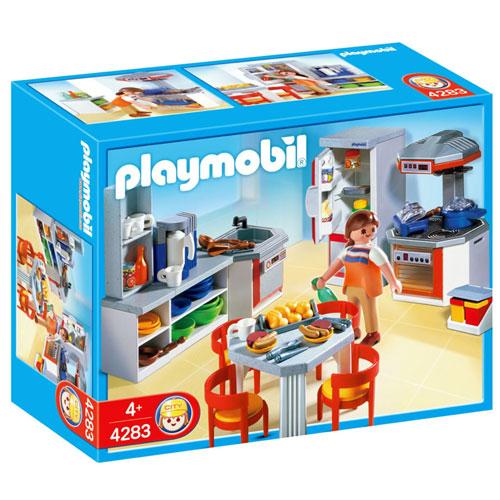Playmobil 4283 cuisine quip e playmobil for Cuisine maison moderne playmobil