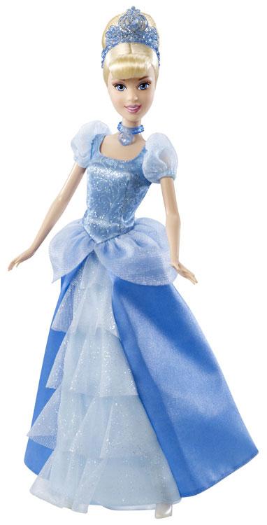 Revis la magie du film Cendrillon avec cette sublime poupée à la robe paillettée ! Des pantoufles de verre pailletées ornent majestueusement cette robe de princesse. 3 ans et +