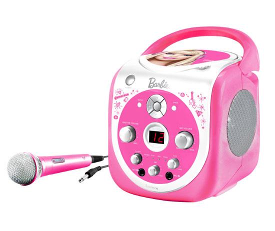 karaoke portable cd g barbie lexibook jouet musical. Black Bedroom Furniture Sets. Home Design Ideas