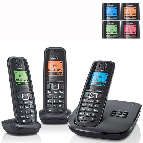 gigaset a510a trio t l phone sans fil num rique avec. Black Bedroom Furniture Sets. Home Design Ideas