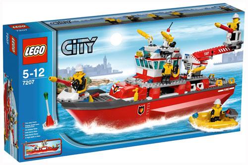 lego city 7207 le bateau des pompiers zoom