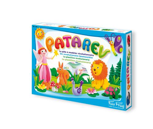 Patarev est la pâte à modeler dont toutes les mamans ont toujours rêvé : elle ne tache pas et ne colle ni aux doigts, ni aux