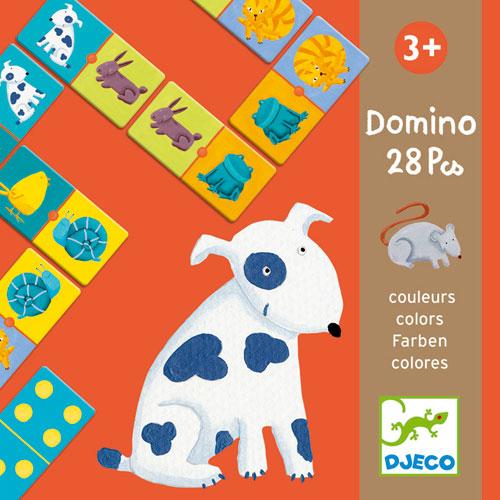 Deux faces pour ce jeu de dominos : une face animaux et une face constellations permettant également à l´enfant d´apprendre à compter.