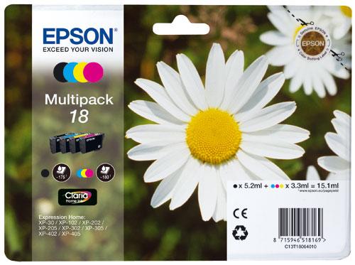 Cartouches d´encre Epson Série Pâquerette 18 - Multipack 4 cartouches