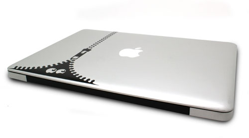 Stickers De Ouf fermeture eclair pour MacBook  a w