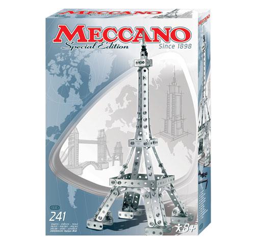 « Reconstruis à ton tour une Tour Eiffel de 40 cm de haut » Un modèle décoratif dans la tradition de Meccano. Outils inclus - 241 pièces.A partir de 8 ans.