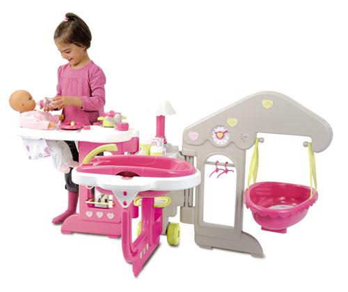 smoby baby nurse maison des b b s maison de poup e. Black Bedroom Furniture Sets. Home Design Ideas