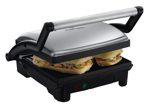 Russell Hobbs - 17888-56 - Cook @ Home - 3 en 1 Barbecue de Table, Grill et Panini - Noir