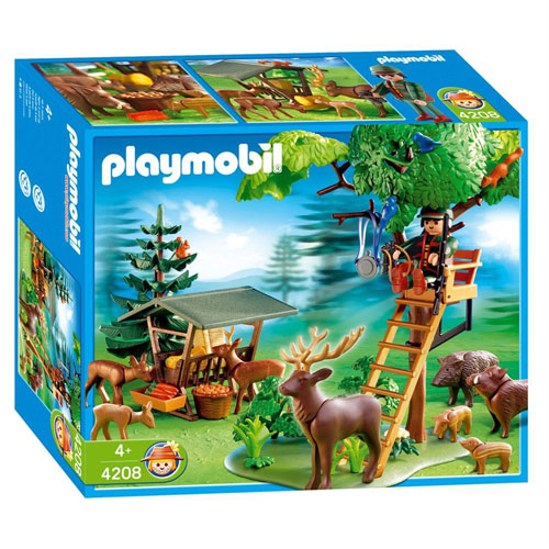 playmobil 4208 garde forestier animaux poste de guet playmobil. Black Bedroom Furniture Sets. Home Design Ideas