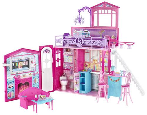 mattel maison glamour barbie maison de poup e achat. Black Bedroom Furniture Sets. Home Design Ideas