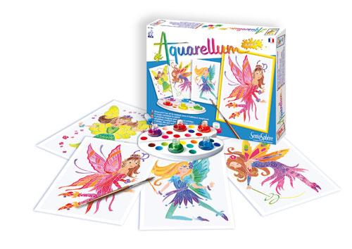 Fantastique ! Quelques gouttes de peinture et tous les enfants pourront réaliser de véritables chefs-d´ouvre. Aquarellum Junior