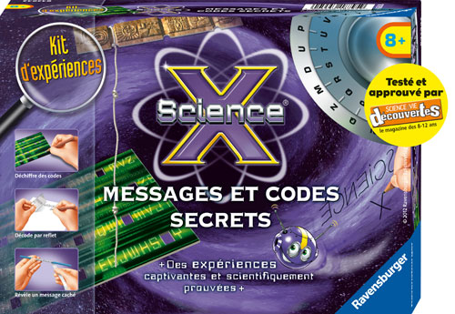 Entre dans le monde des codes secrets et découvre des expériences fabuleuses, apprends à crypter et décoder des messages secrets.