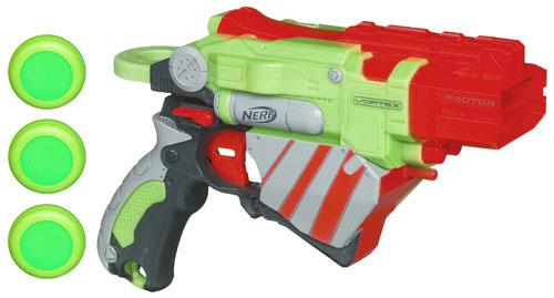 Un pistolet qui tire 3 disques grâce à une toute nouvelle technologie !