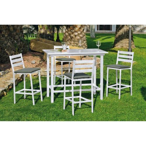 Tabouret jardin les moins chers de notre comparateur de prix - Ensemble table haute et tabouret ...