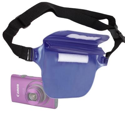 Riñonera Azul Resistente Al Agua Para Cámara Canon IXUS 140 / IXUS 132 / SX50 HS - Perfecta Para Playa Y Piscina Por DURAGADGET
