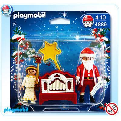 Pequeño Angel y Papa Noel con Organo 4889 - Playmobil