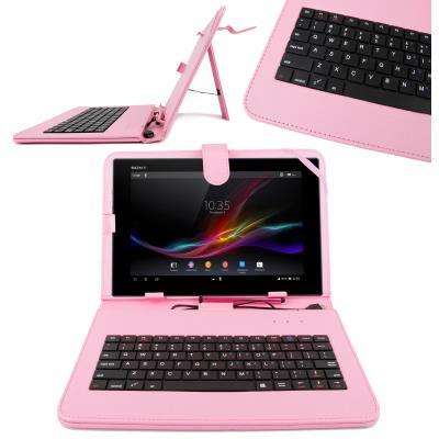 Funda teclado color rosa en espa ol con letra para sony xperia z tablet s con conexi n - Funda xperia z tablet ...