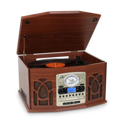 auna nr 620 cadena est reo tocadiscos grabaci n mp3 marr n. Black Bedroom Furniture Sets. Home Design Ideas