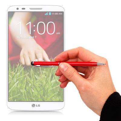 DURAGADGET Lápiz Stylus Rojo 2 En 1 Bolígrafo De Tinta y Para Pantalla Táctil De LG G2 Mini