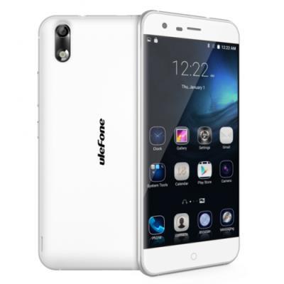 ulefone Paris 4G Smartphone MT6753 Octa Core 64bit 2GB 16GB Android 5.1 5.0 Inch Blanco