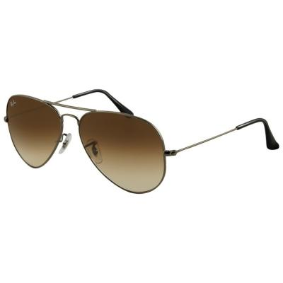 Ray-Ban RB3025 (AVIATOR LARGE METAL) - 004/51 (GUNMETAL/crystal brown gradient) - Gafas de sol