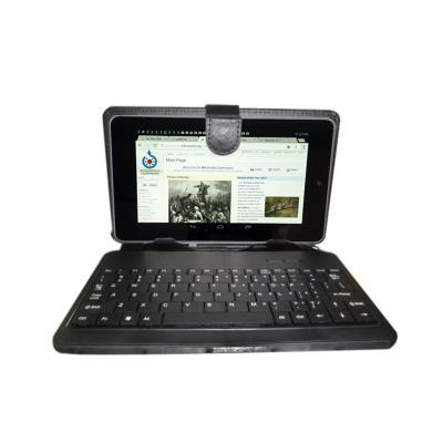 Funda de cuero sint tico con teclado de usb micro para tablets de 7 pulgadgas por duragadget - Funda tablet con teclado 7 ...