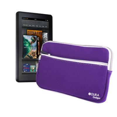 Funda Morada Resistente Al Agua Con Bolsillo Para El Nuevo Kindle Fire Y Kindle Fire HD Por DURAGADGET