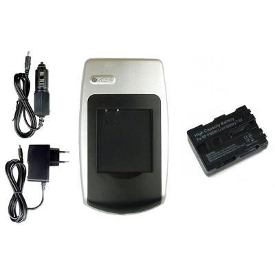 Batería + Cargador NP-FM55H para Sony DCR-TRV150, TRV230, TRV238, TRV239, TRV240