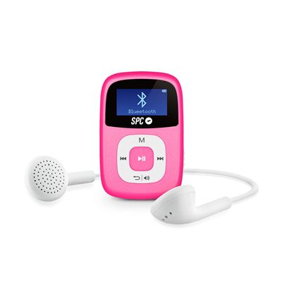 Reproductor MP3 Bluetooth spc Firefly Rosa - Bt2.0 - Radio fm - Aux-in - GrabaciĂłn voz - mp1 / mp2 /