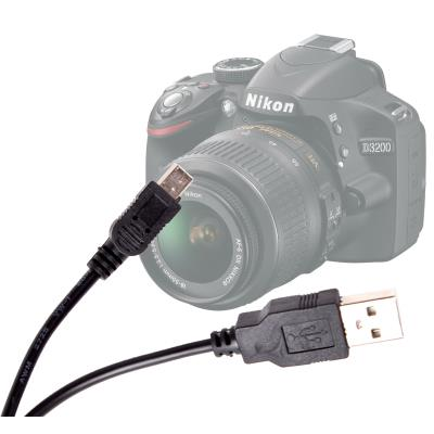 Cable USB-miniUSB De Sincronización Para La Cámara Nikon D3200 Por DURAGADGET