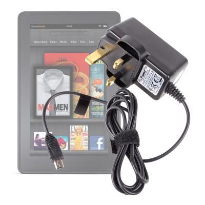Cargador De Corriente Para El Reino Unido Sirve Con Kindle Fire & Kindle Fire HD Por DURAGADGET