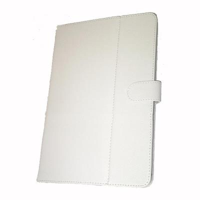 Funda piel blanca Tablet con soporte 6 y 7 pulgadas