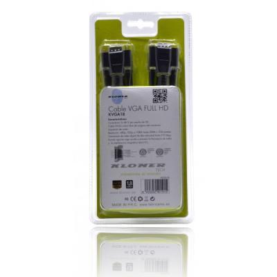 Cable VGA m-M 1.8m Db15 Full HD Monitor Kl-Tech ne