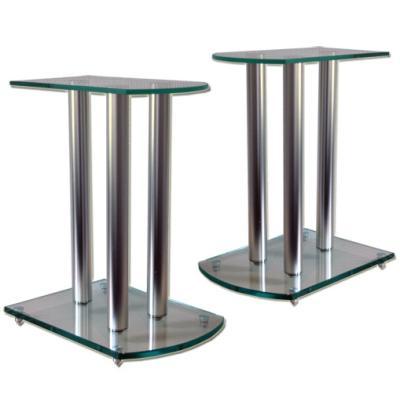 Soportes para altavoces hifi home cinema vidrio aluminio - Soporte de altavoces ...