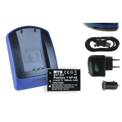 Baterìa + Cargador (USB/Coche/Corriente) L1812A para HP V5040u / Photosmart R507, R607, R707