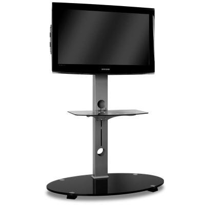 soporte de pie tv cristal aluminio negro 37 a 42 en fnac