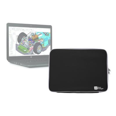Funda De Neopreno Negra Para HP Zbook 15u - ¡Máxima Protección Para Su Ordenador! - ¡Resistente Al Agua! Por DURAGADGET