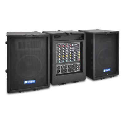 Equipo PA móvil-mesa de mezclas,amplificador,altavoces,200W