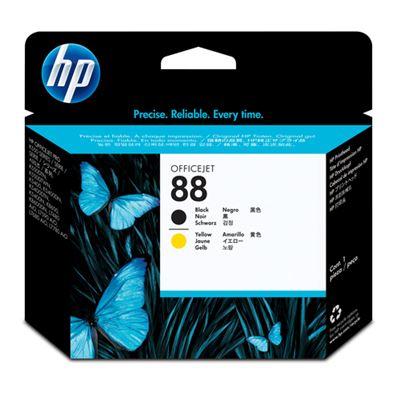 HP Cabezal de impresión negro y amarillo HP 88