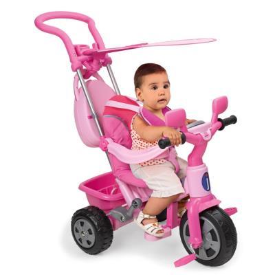 Juguettos Triciclo Baby Plus Music Rosa C/Toldo