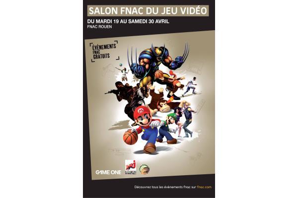 Actuellement la fnac rouen le salon du jeu vid o for Salon du chiot rouen