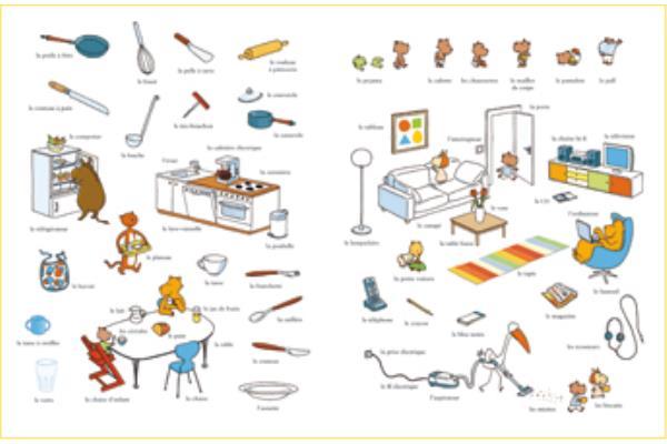 Le grand imagier des petits ravira aussi les plus grands for Apprendre les objets de la maison