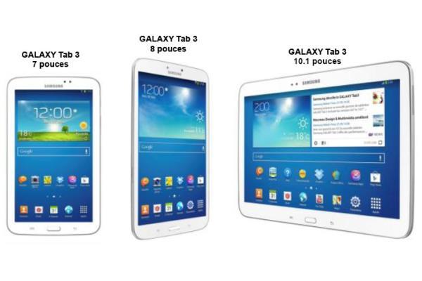 Galaxy Tab  presentation de la nouvelle gamme tablettes Samsung cp w