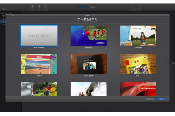 how to change the theme on imovie on mac