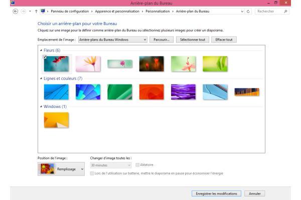Windows 8 1 donnez une touche personnelle votre - Arriere plan bureau gratuit windows ...