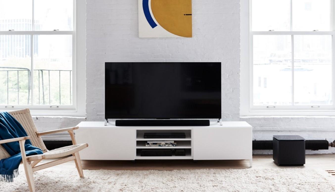 Soundtouch 300 bose propose une barre de son multiroom - Meuble tv avec barre de son ...