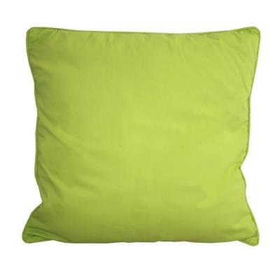 Coussin Carré Déhoussable 100% Coton Sergé De Coloris Vert. Garnissage : 100% Polyester. Style : Classique. Finition Passepoil. Facile D´Entretien. Lavage En Machine A 30°C. Repassage A 2 Points. Grammage : 200 Gr/M². Dimensions : 60X60X10 Cm.