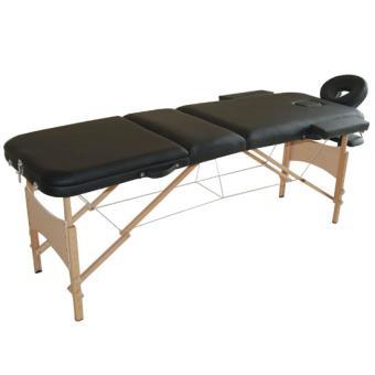 lit table de massage cosm tique pliable en bois 3 zones noir homcom achat prix fnac. Black Bedroom Furniture Sets. Home Design Ideas