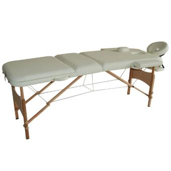 Lit table de massage cosm tique pliable en bois 3 zones - Table massage pliable ...